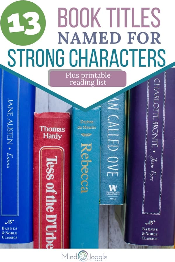 13 Book Titles Named for Strong Characters