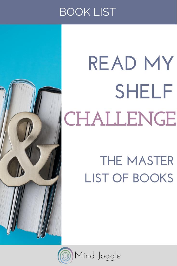 Read My Shelf Challenge - The Master List of Books | MindJoggle.com