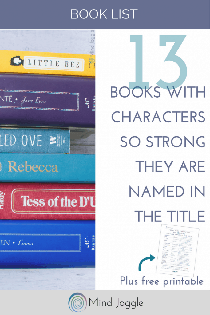 13 Books with Characters so Strong They Are Named in the Title | MindJoggle.com