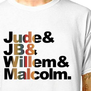 A Little Life T-Shirt. Jude & JB & Willem & Malcolm. Characters from the book A Little Life by Hanya Yanagihara