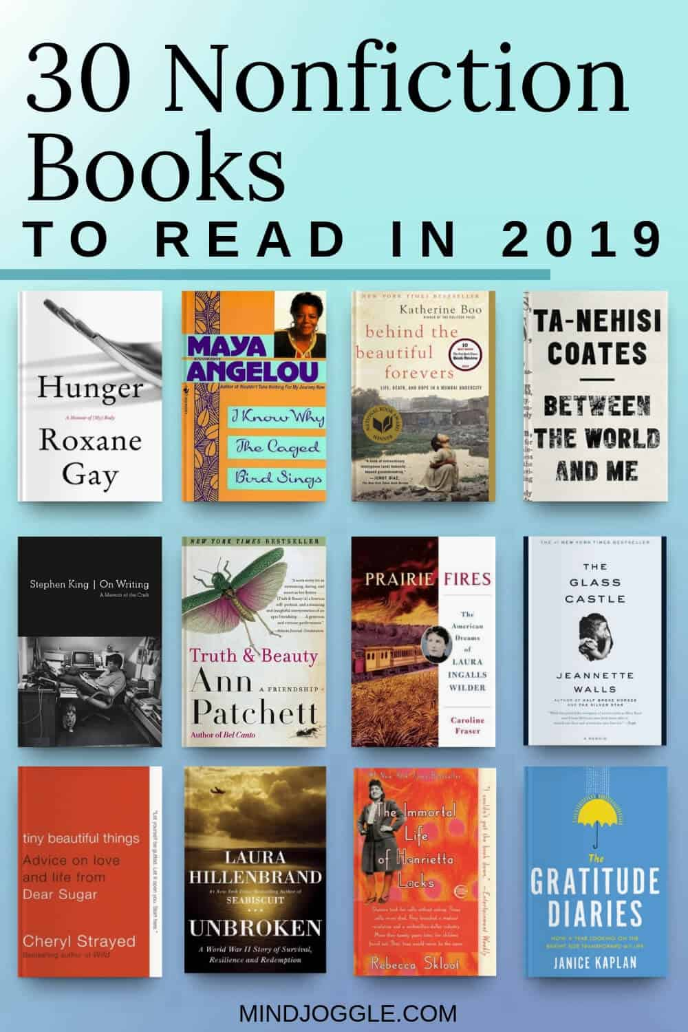 30 Memoirs and Nonfiction Books to Read in 2019. Add these nonfiction books to your reading list.