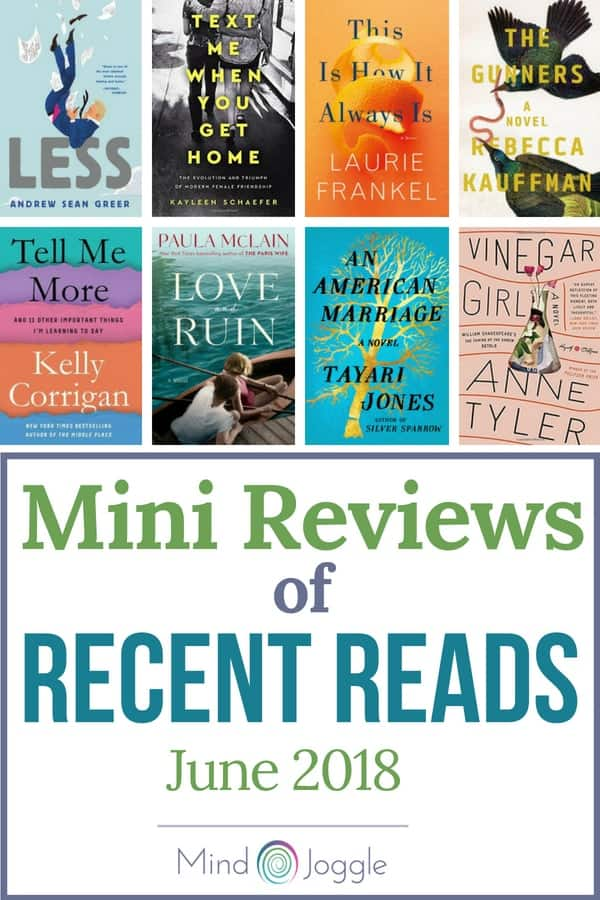 Mini Reviews of Recent Reads June 2018