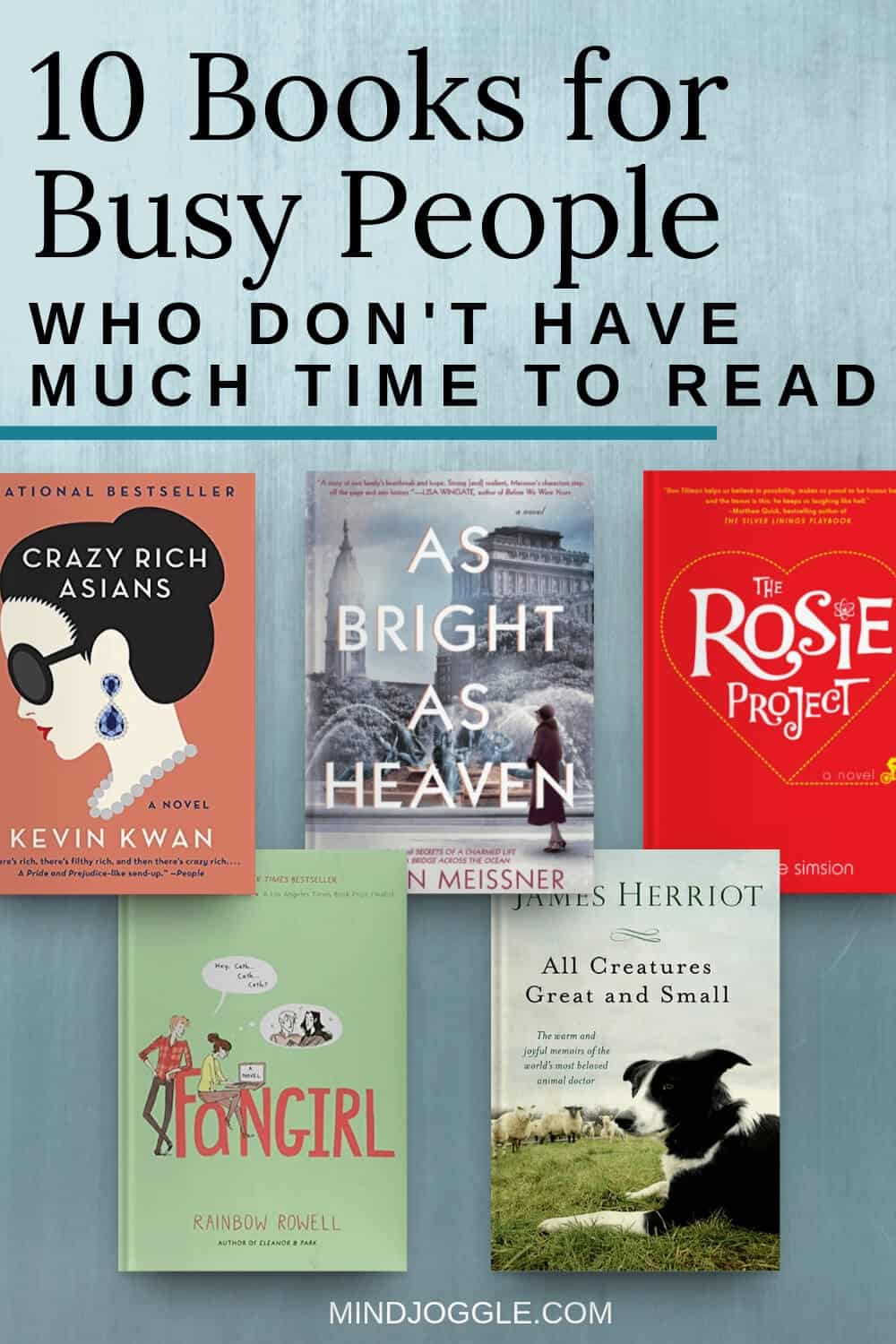 10 Books for Busy People Who Don't Have Much Time to Read