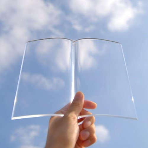 Clear Acrylic Book Weight