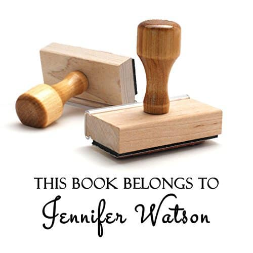 This Book Belongs to Wooden Rubber Stamp