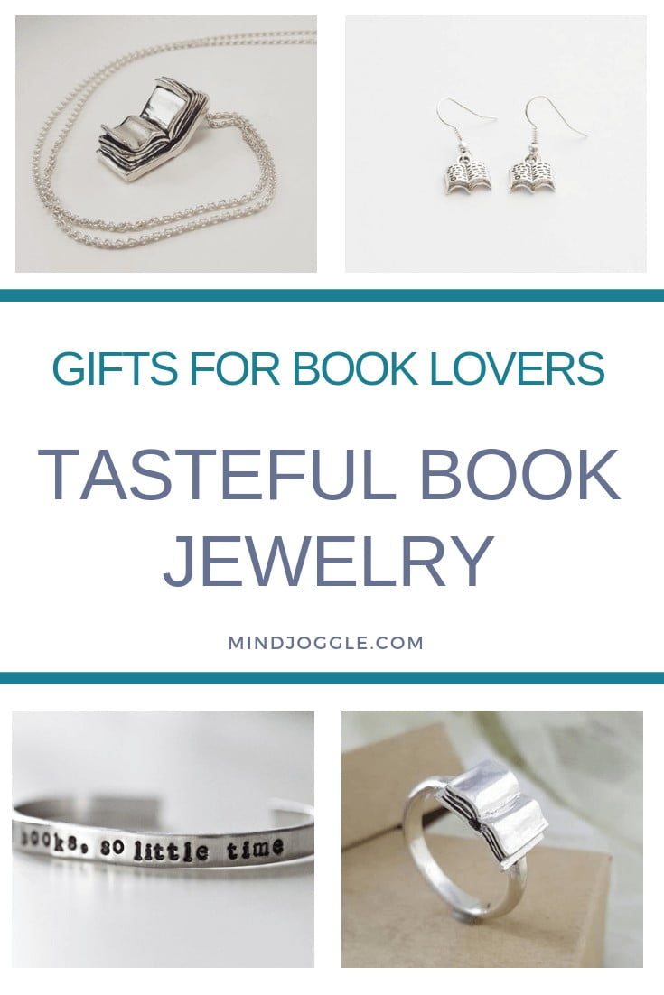 Tasteful book jewelry makes a great gift for book lovers. MindJoggle.com