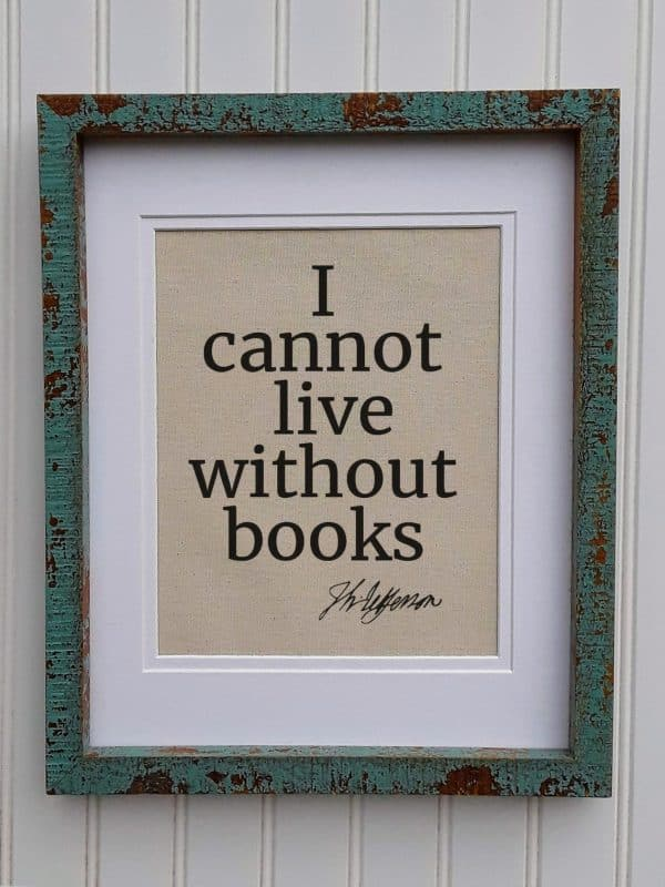 I Cannot Live Without Books Canvas Print