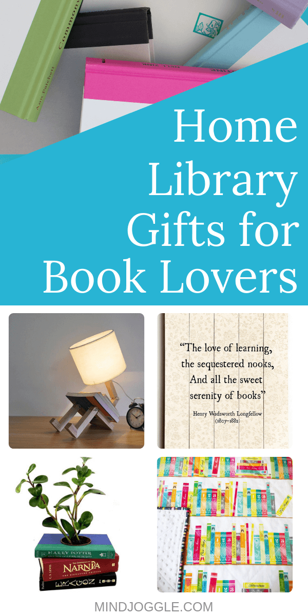 Home Library Gifts for Book Lovers. Gifts to make a comfortable and cozy home library where anyone will want to curl up and read.