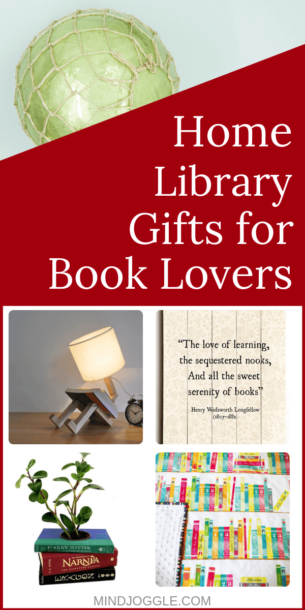 Home Library Books for Gift Lovers. Holiday gift ideas for readers who love their home libraries.