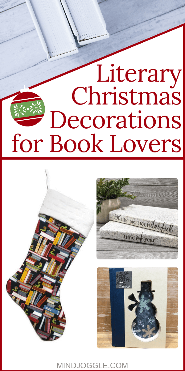 Literary and book Christmas ornaments and decorations for readers.