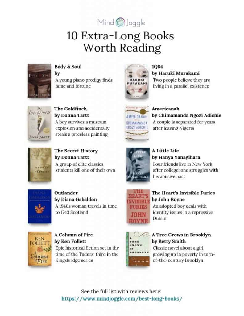 List of 10 Long Books Worth Reading