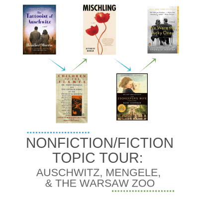 Nonfiction/fiction books topic tour: Auschwitz, Mengele, and the Warsaw Zoo.