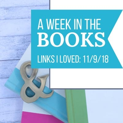 Links I Loved the Week of 11/9/18, including science and satire, another Little Women adaptation, books that no one alive will ever read, amazing Christmas book art, and a slave family's story preserved. #books #bookblogger