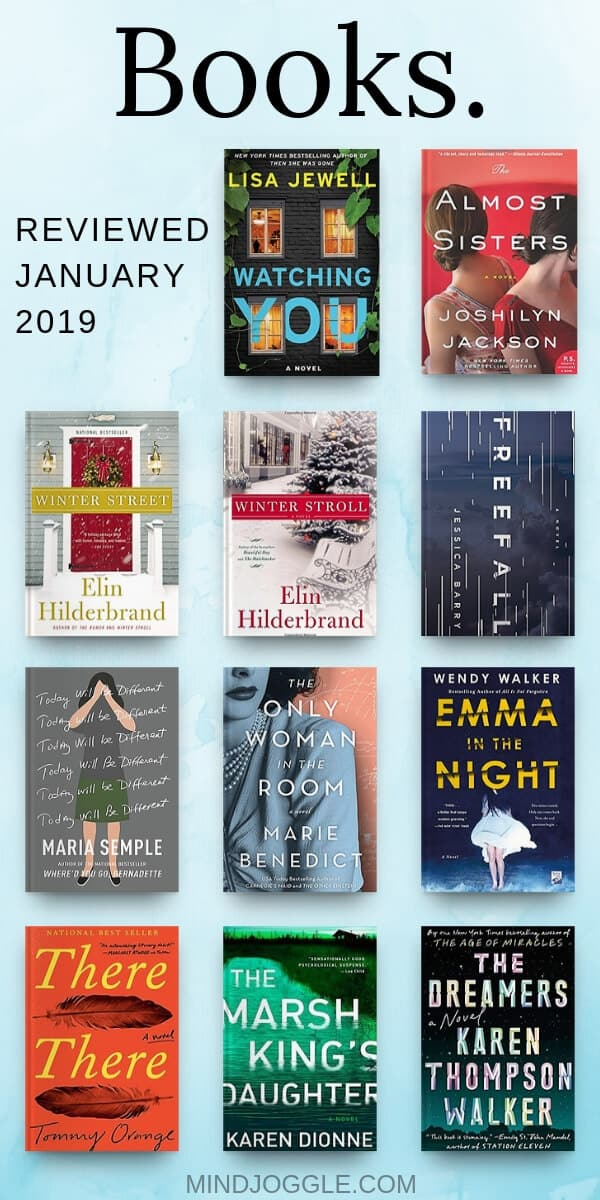 Books to read and skip in January 2019, including Winter Street, Winter Stroll, The Marsh King's Daughter, The Only Woman in the Room, There There, Freefall, The Almost Sisters, Emma in the Night, The Dreamers, and Today Will Be Different, and Watching You. #books #bookstoread #bookreviews #amreading #reading #booklover #bookworm #thriller #historicalfiction