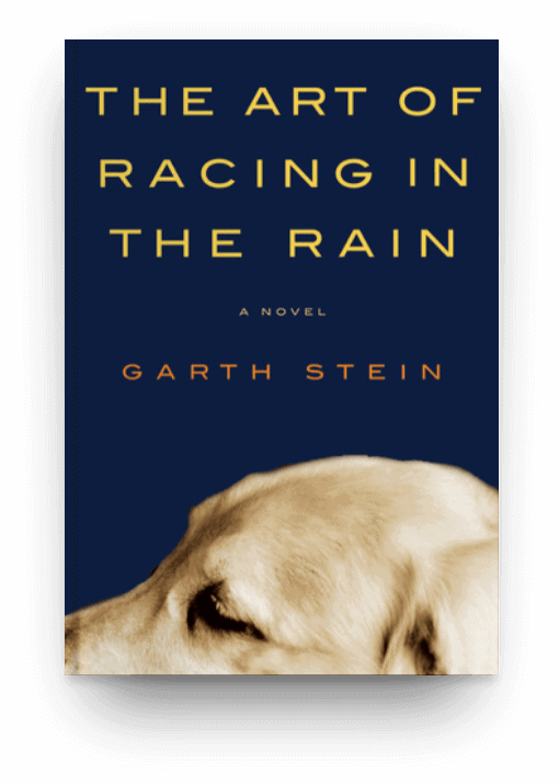The Art of Racing in the Rain by Garth Stein, a great book about a dog