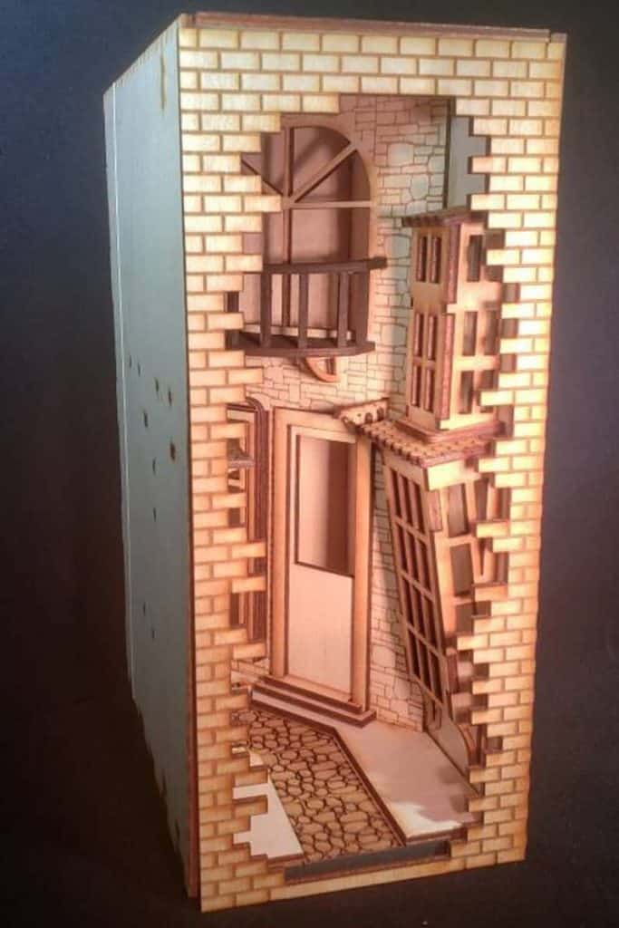 Bookshelf diorama kit, a unique gift for book lovers