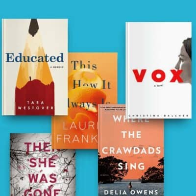 Highly readable books including Educated, Then She Was Gone, This Is How It Always Is, Vox, and Where the Crawdads Sing