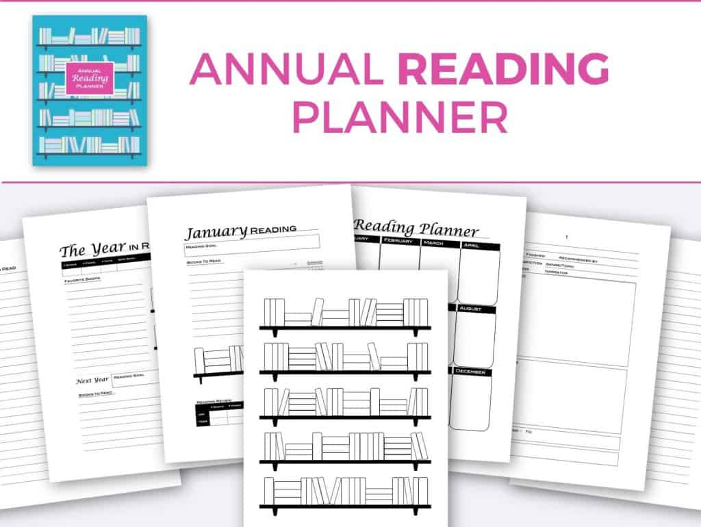Annual Reading Planner cover and inside pages preview