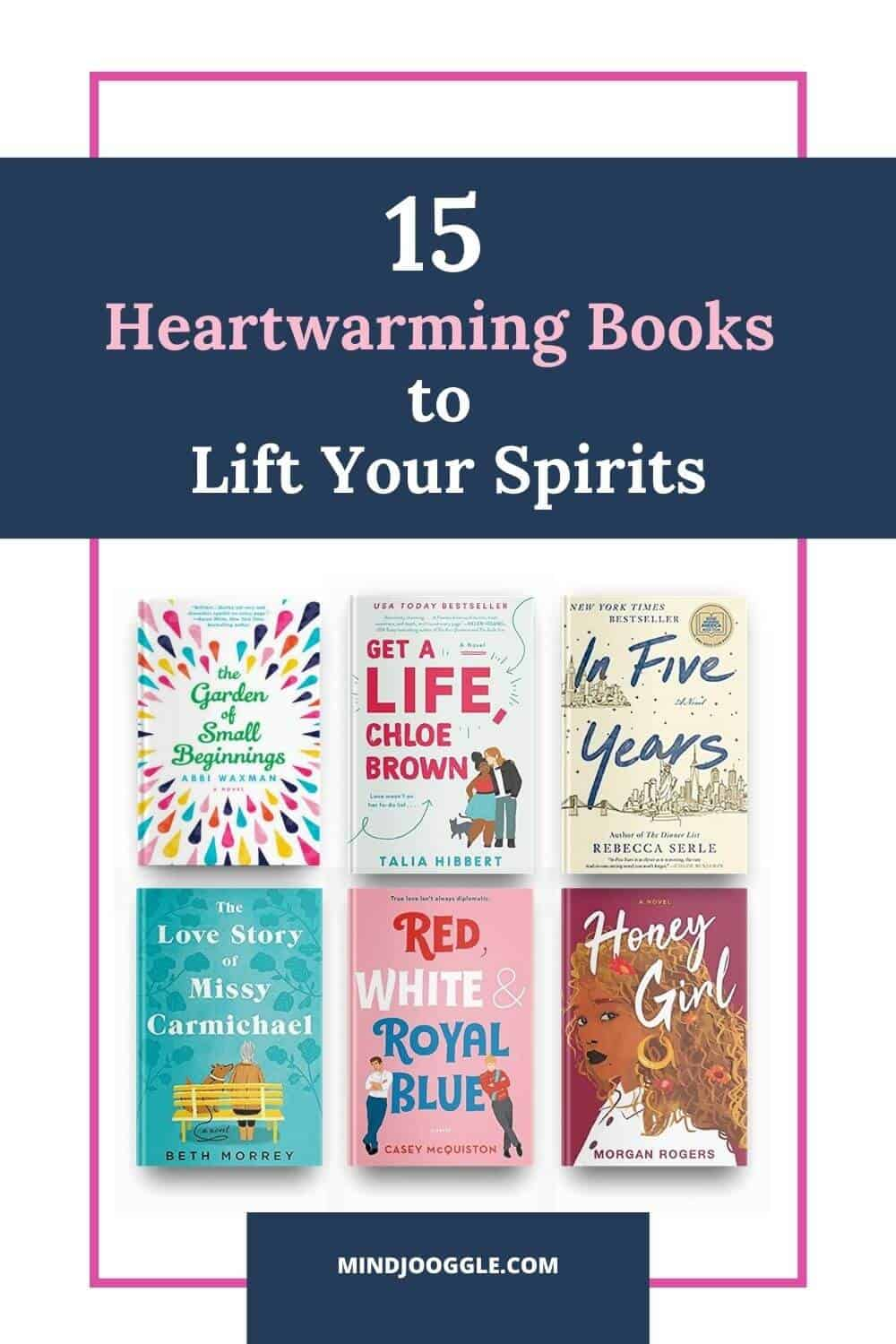 When you're in the mood for a heartwarming book to read, try this list of uplifting novels that are sure to boost your mood. Feel-good books are the perfect escape when you just need an infusion of happiness in your life. Some of these books will make you laugh, while others will just give you the warm fuzzies. #books #booklist