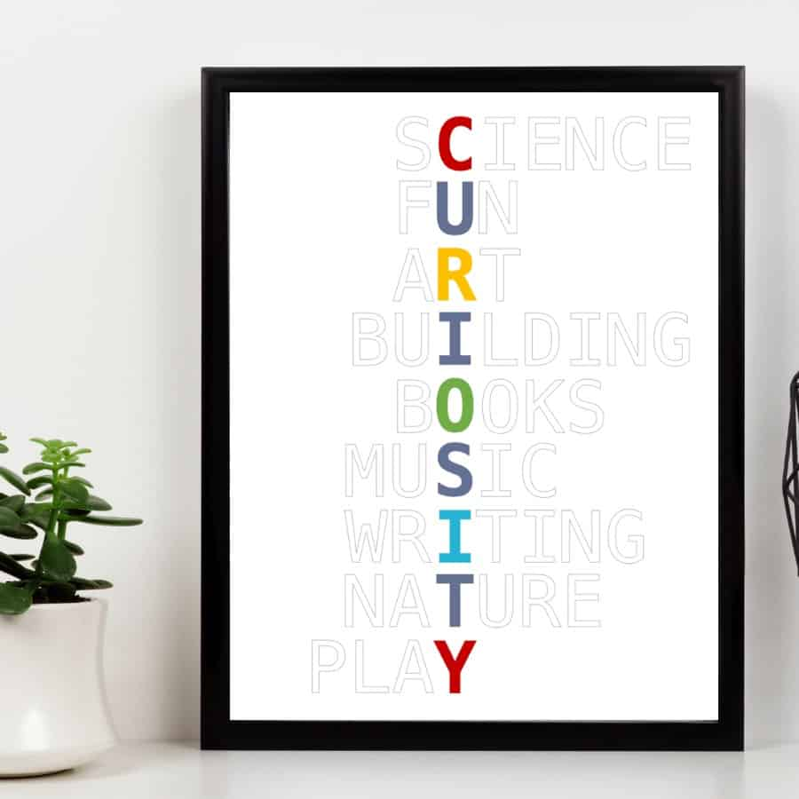 Curiosity Wall Art in primary colors