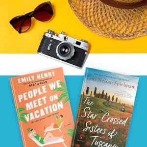Books about travel, including People We Meet on Vacation and The Star-Crossed Sisters of Tuscany
