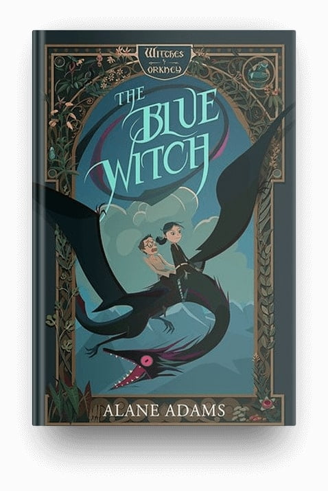 The Blue Witch by Alane Adams, part of a kids fantasy book series about witches