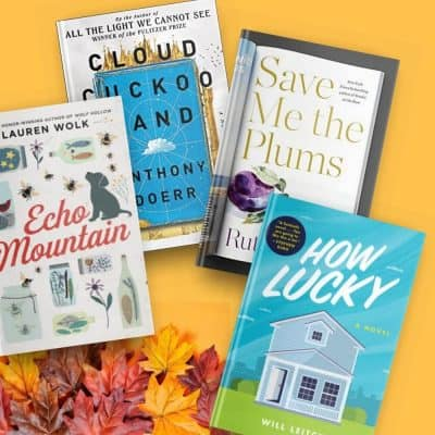 Book reviews of Echo Mountain, Cloud Cuckoo Land, Save Me the Plums, and How Lucky